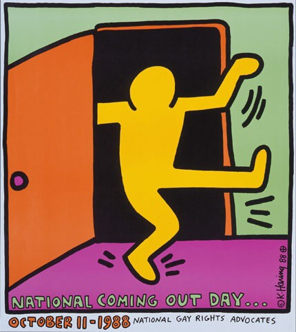 Keith Herring - National Coming Out Day Poster